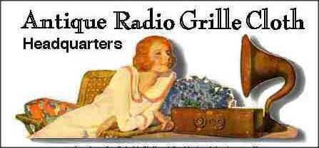 Antique Radio Grille Cloth